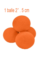 Goshman 1 balle Orange mousse ( super soft ) 2""