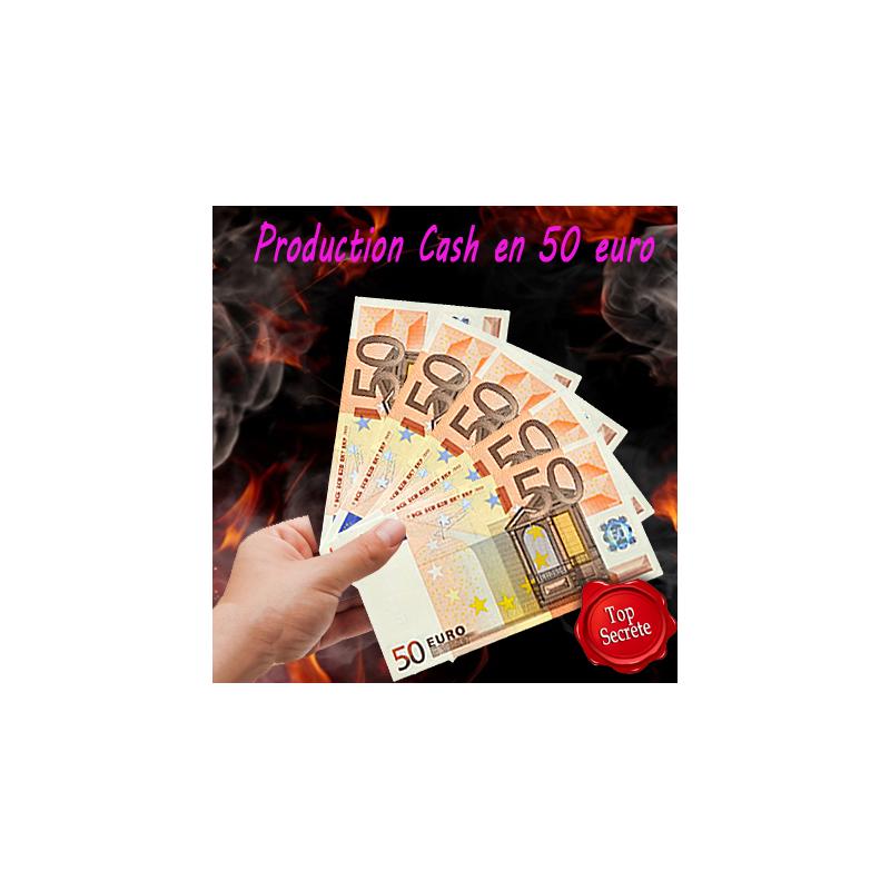 N°12 Production Cash. Papier blanc en billet de 50 €