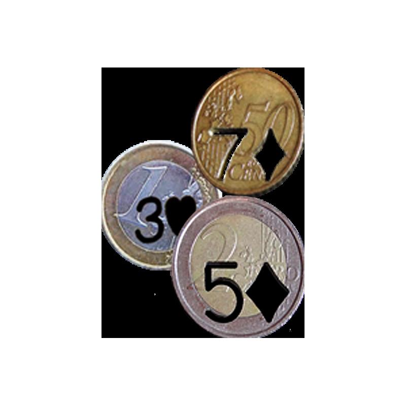 3 Pièces trouées. ( 1 euro + 50 ct + 2 euro )