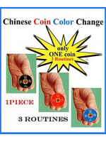 Chinese coin color change ( joker magic )