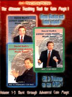 DVD A1 David Roth's expert Coin Magic Mage Esay vol 1-2-3