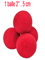"Goshman 1 balle rouge mousse (super soft ) 2""."