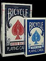 Mini Jeu de carte Bicycle bleu