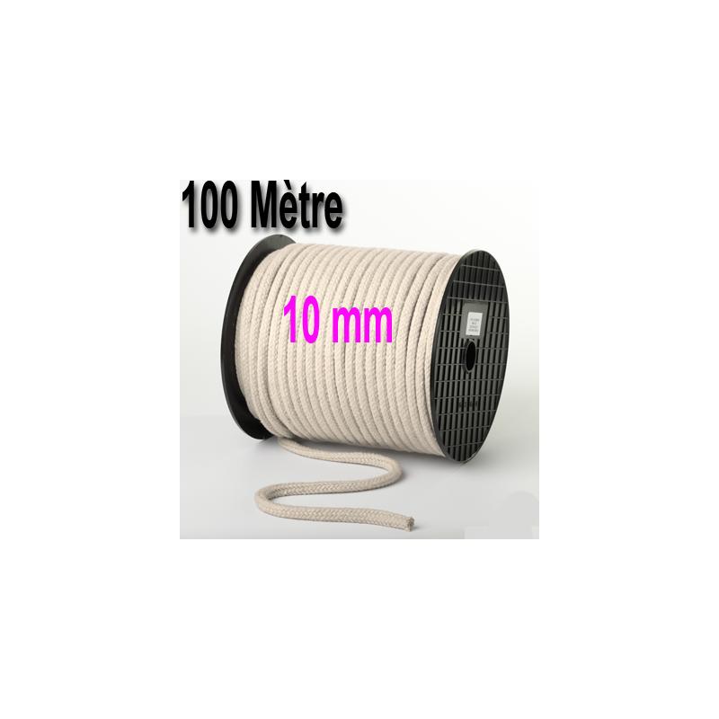 Bobine de Corde souple Blanche 100 mètres ( 10 mm )