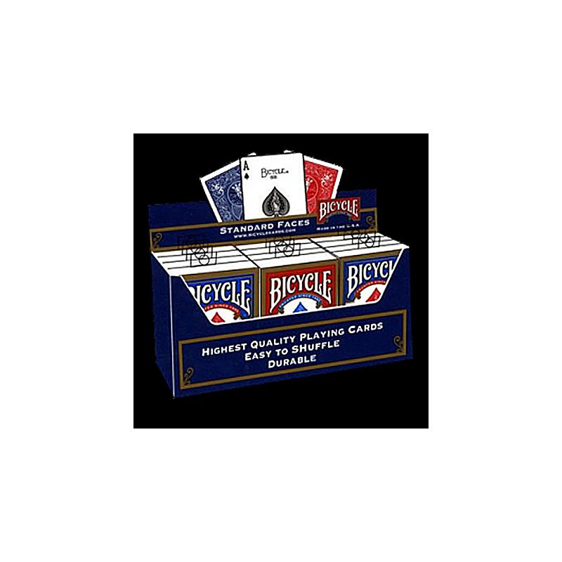Cartouche bicycle  Nouvel etui ( 6 Bleu 6 Rouge )