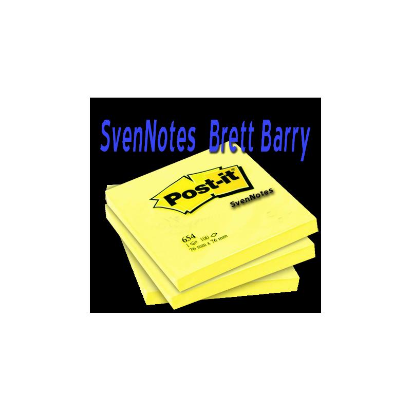 SvenNotes -  3 Post-It Jaunes ( Brett Barry )