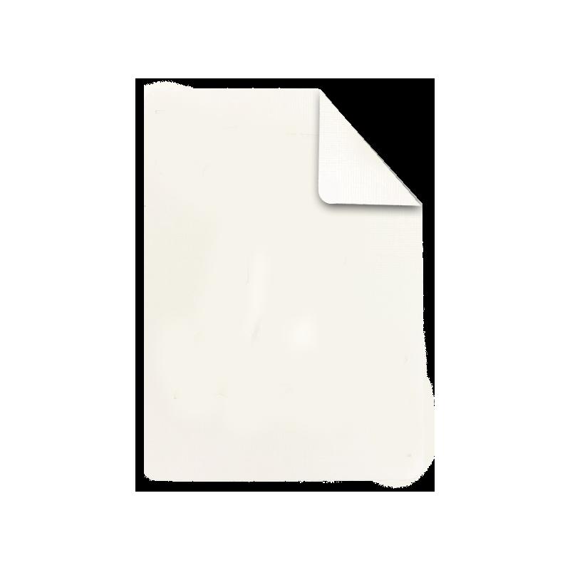 Carte à l'unité blanc / blanc