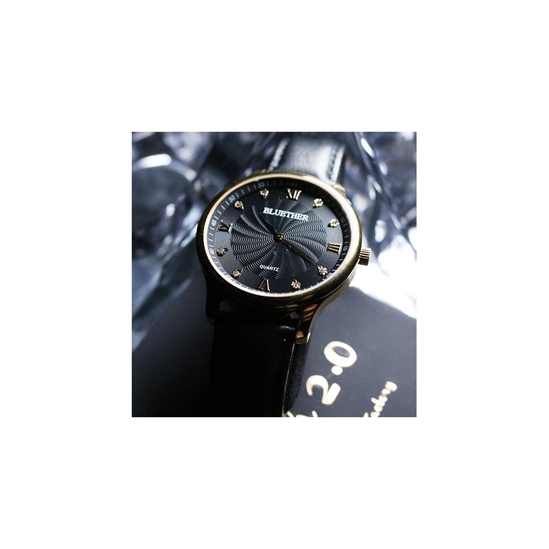 Infinity Watch V2 - Gold Case Black
