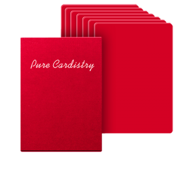 Pure Cardistry 7 packets (ROUGE)