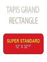 Tapis grand rectangle Rouge 82 x 30 cm