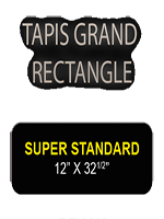 Tapis grand rectangle Noir 82 x 30 cm