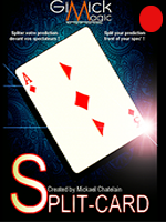 SPLIT CARD Rouge by Michael Chatelain
