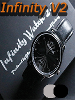 Infinity Watch V2 - Silver Case Black Dial