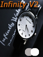 Infinity Watch V2 - Silver Case White Dial