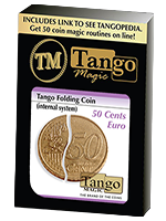 Piéce pliante  50 ct euro - folding coin ( internal system) ( tango )