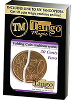 Piéce pliante  50 ct euro - folding coin ( traditional system) ( tango )