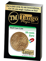 Pièce aimantable- Steel Core Coin (50 Cent Euro) ( Tango )