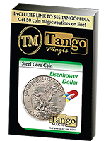 Pièce aimantable Steel Core Coin 1 dollar Eisenhower ( tango )
