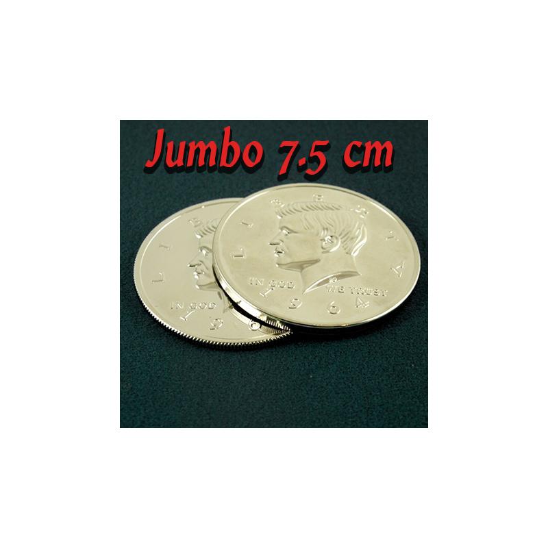 Coquille + Pièce géante 1/2 dollar 7.5 cm