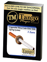 Cigarette à travers 1 euro simple face ( tango )