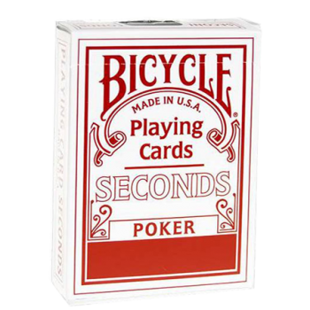 Bicycle poker seconds (rouge )