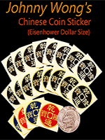 Chinese coin stickers dollar
