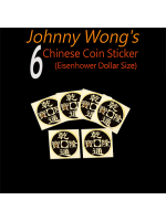 Chinese Coin stickers 6 Noir