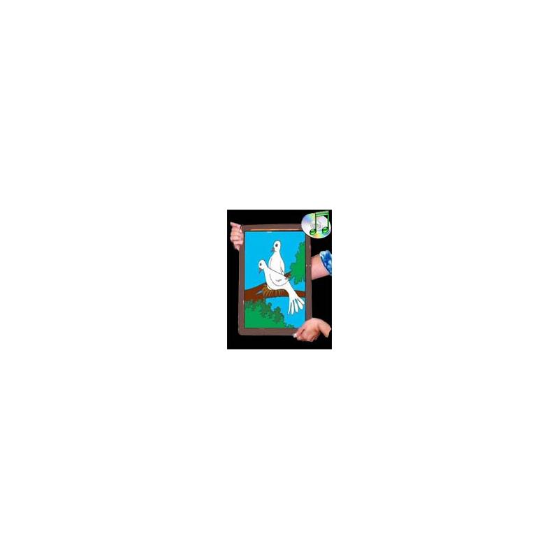 Apparition de colombes au cadre ( Dove frame )
