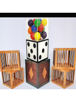 Transformation of Dice to Crystal Cube then to 4 Cages (Wooden)