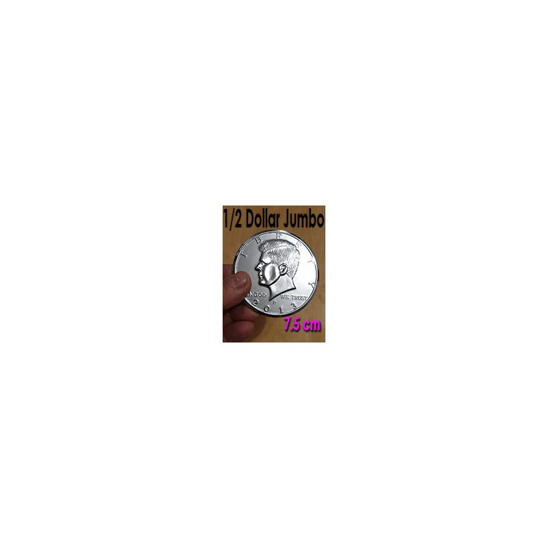 Pièce Jumbo 1/2 Dollar 7,5 cm Super chromé