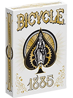 Bicycle 1885 playing card