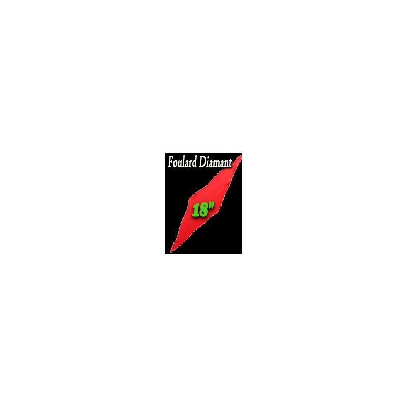 """Foulard Diamant Rouge 18"""""""