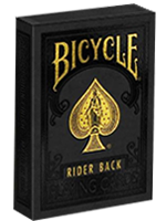 Bicycle Black and Gold Rider Back