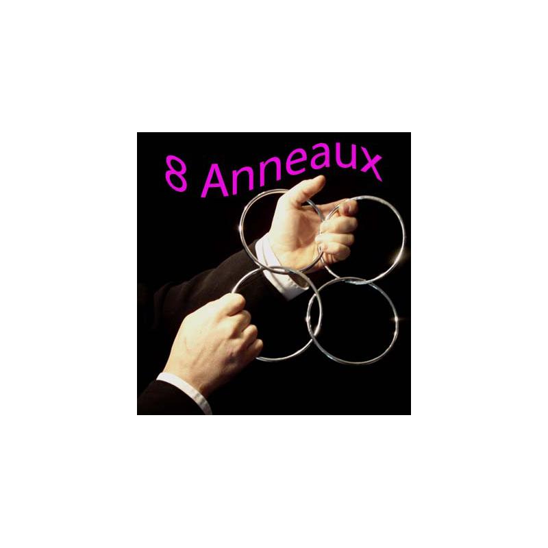 Anneaux Chinois - 8 anneaux 11.5 cm