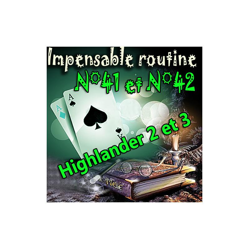 Impensable Routine N° 41 + 42 - Highlander 2 et 3 ( Téléchargement )