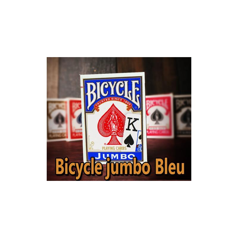Bicycle poker Jumbo Index Bleu
