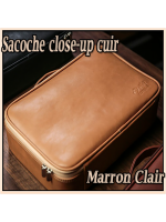 Sacoche Close-Up Luxury Cuir - Camel Brown - TCC