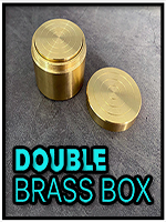 Double Brass Box - Boites Gigognes Laiton