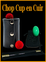 Leather Chop Cup en Cuir - Jieli Magic