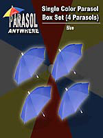 Parapluies à production Lot de 4 bleus !!!