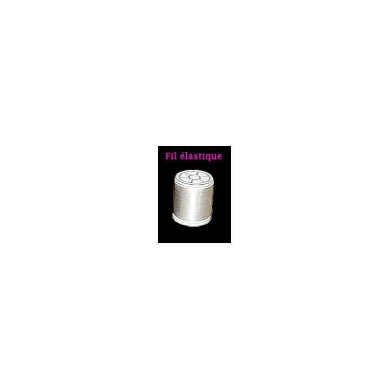 Bobine de fil invisible elastique blanc