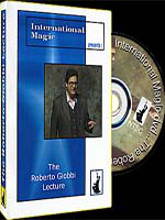 DVD Roberto Giobbi Lecture  International Magic