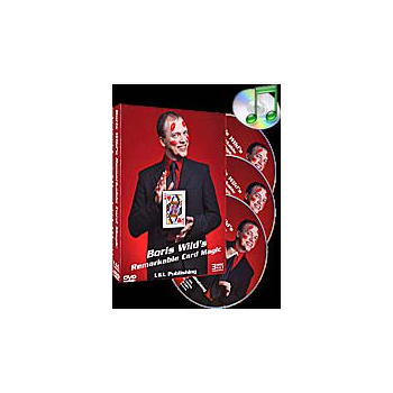 DVD Remarkable Card Magic (3 DVD Set) ( Boris Wild )!!!