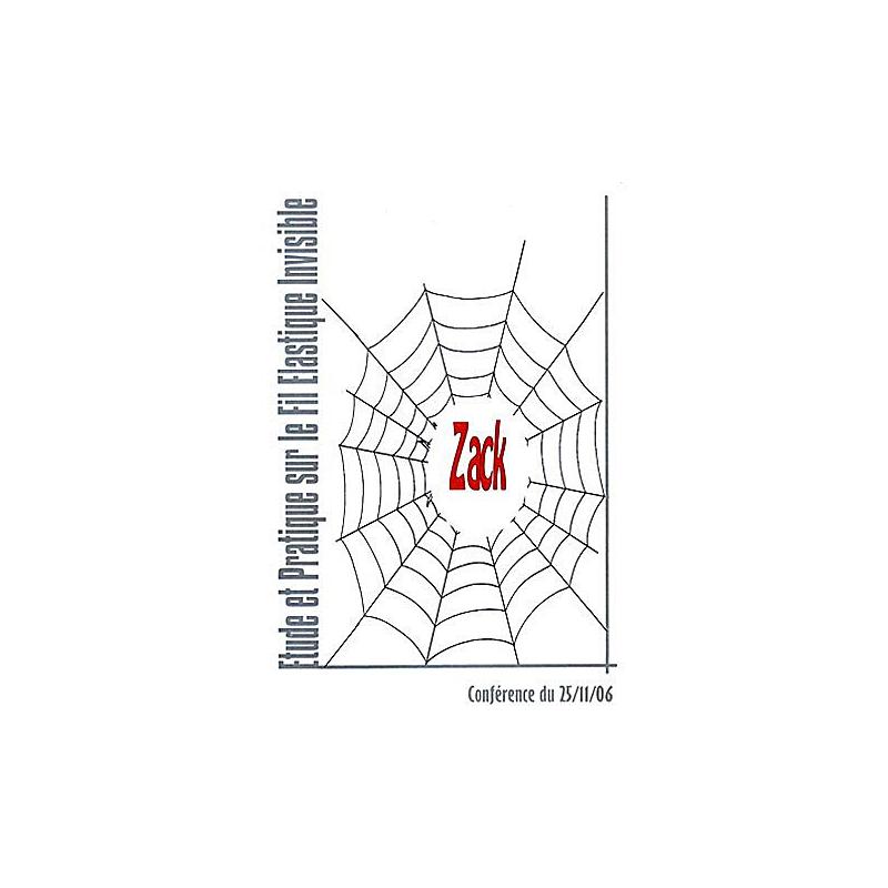DVD Etude et Pratique sur le Fil Invisible Elastique (Zack)