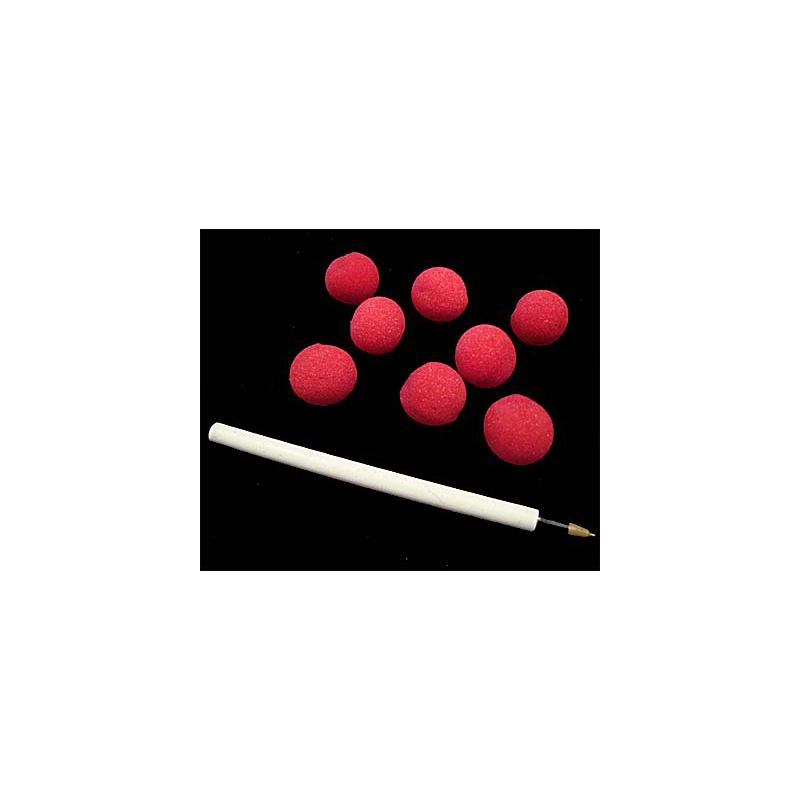 8 Minis balles Rouge en mousse 2,5 cm ( super soft ) Goshman