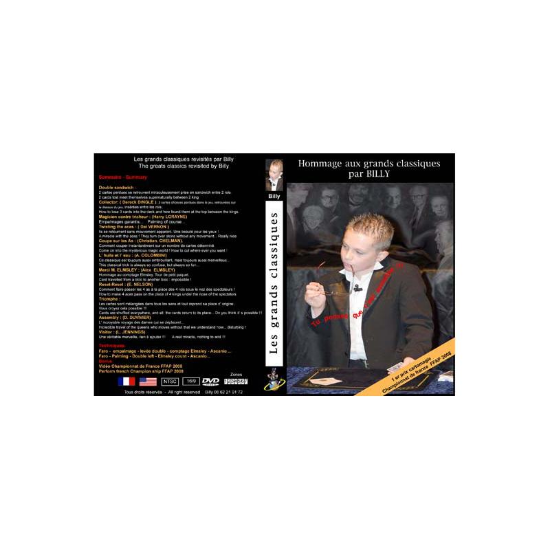 DVD Hommage Aux Grands Classiques Par Billy