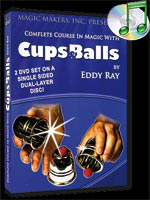 DVD Cups and Balls  - 2 dvd -(Eddy Ray)