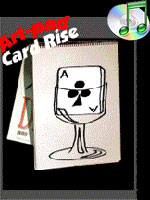 Art Pad Card Rise - Wine Glass  ( cardiographic )