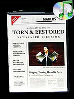 DVD Torn and Restored News Paper Illusion