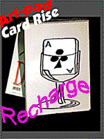 Art Pad Card Rise - Wine Glass  ( cardiographic ) recharge